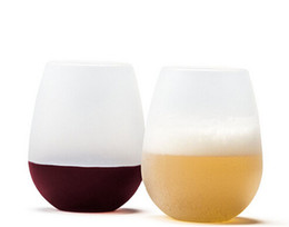 Wholesale Design Glass Cup - New Design Fashion 2015 Unbreakable clear Rubber Wine Glass silicone wine glass silicone wine cup wine glasses