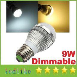 Wholesale E14 Dimmable 3x3w 9w Led - CREE 3X3W 9W E27 E26 Led Globe Light 600 Lumens Warm Natural Cool White GU10 Dimmable Led Bulbs Light AC110-240V + CE ROHS UL