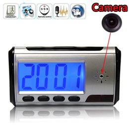 Wholesale Dvr Clock - Mini camera DVR alarm clock camcorder Spy Camera DVR Hidden HD Camera vedio recorder Motion Remote Control free shipping