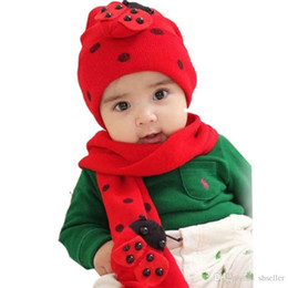 Wholesale Child Baby Hat Twinset - Amazing Fashion Beatles baby hat cap scarf twinset Cotton Beatles hat children hat+scarf A5