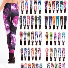 Wholesale Girls Galaxy Leggings - Fashion Popular Women Sexy Leggings pants Galaxy Printed Tights Girls Graffiti Leggings Starry Night Stretchy Penci Pantsl