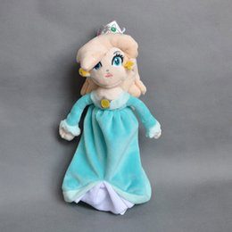 "Wholesale Stuffed Princess Toy - Hot New 8"" 20CM Princess Rosalina Plush Doll Super Mario Bros Stuffed Dolls Anime Collectible Kid's Gifts Soft Toys"