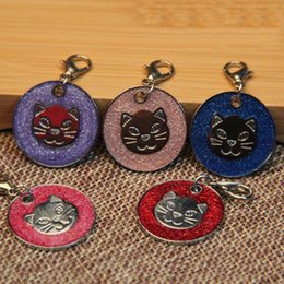 Wholesale Laser Pet Tags - Personalized Round Shape stainless steel Pet ID Tag Customized Cat ID Tag Laser engraving dog Tag Identification