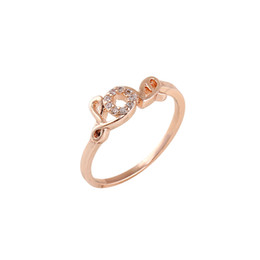 Wholesale Cheap Heart Engagement Rings - Rose Gold  Silver Plated Unique Wedding Rings for Women Beautiful Cheap Engagement Finger Rings Hot Selling