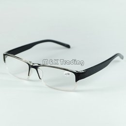 Wholesale Cheap Plastic Resin - 2016 New Plastic Reading Glasses Square Black Frame Resin Lenses With Strength Long-sightedness Cheap Eyewear Wholesale