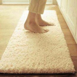 Wholesale white red rugs - 50*80cm 60*160cm Carpet Floor Bath Mat Suede Non-slip Mat Bathroom Floor Rugs Plush Memory Velvet Mats Dust Doormat Absorbent Floor Rug