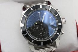2020 observa tendências Top Venda Chronograph Relógio Dos Homens De Prata Staimless Cinto De Prata Esqueleto Dial Azul Escuro Ponteiro Branco relógios de Tendência observa tendências barato