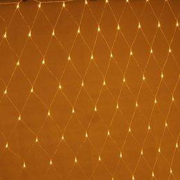 Wholesale Giant Plug - 110V Power Plug Wedding Party 672 LED Net Lights 4m x 6m LED Giant Fairy Light Christmas Decoration Xmas illumination