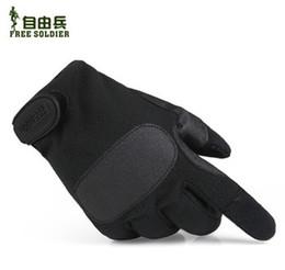 2019 handschuhe taktisch grün Großhandel-Männer Frauen Outdoor Winter Fleece Handschuhe Tactical Handschuhe Rutschfeste Handschuhe Größe: S M L XL Farbe: Armee Grün / Schwarz günstig handschuhe taktisch grün