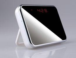 Wholesale Mini Wireless Pinhole Camera - Newest Wifi 1080P Hidden Spy Cam IP Camera Alarm Clock Mini Camcorders HD 140 Deg whithe