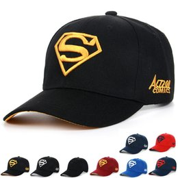 Wholesale Hat Cap Uv - Korean Fashion Baseball Hats Women Ladies Superman Snapbacks Spring Autumn Outdoor Anti-UV Sports Golf Hats Couple Sun Caps