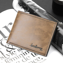 Wholesale Portable Photo - 2016 Fashion New Quality Wholesale Price Leather Men's Wallet Short Portable 4 Colors Card Holder Purse Wallet Free Shipping