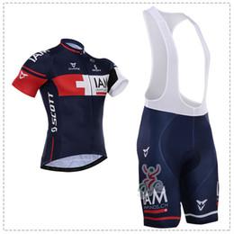 Wholesale Iam Cycling - 2015 IAM Pro Cycling Jerseys Roupa Ciclismo Summer Breathable Racing Bicycle Clothing Quick-Dry Lycra GEL Pad Race MTB Bike Bib Pants