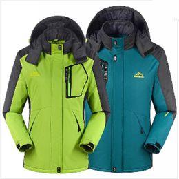 Wholesale Women S Sport Outdoor Waterproof - Fall-Winter men women jacket Outdoor thermal coat Sport skii camping climbing thick jackets outwear Waterproof Windproof couples