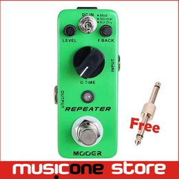 Wholesale Mooer Free Shipping - Mooer Repeater Digital Delay Pedal 3 Working Modes Piezo Standard Jumbo Full metal shell True bypass Free shipping MU0357