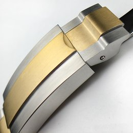 Wholesale End Clasps - Watchband 20mm Watch Band Strap 316L Stainless Steel Bracelet Curved End Silver Watch Accessories Man Watchstrap for Submariner Gold +Tools