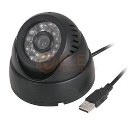 Wholesale Tf Security Cameras - NEW Video Camera IR Cut for CCTV DVR Recorder CCTV Dome Camera Security USB Plug and Play Motion Detection Support 32GB TF Card