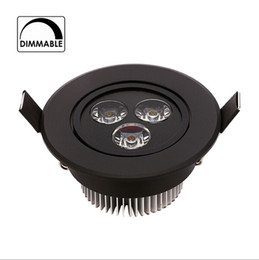 2019 dimmable led downlight preto Super brilhante corpo preto 110 v 220 v dimmable 9 w led downlight rodada teto recesso spot led luz da lâmpada ip40 iluminação interna desconto dimmable led downlight preto