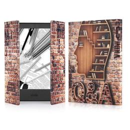 Wholesale E Readers Kindle - Unique Design Vintage Pattern Protective Folio Case Cover for Kindle 8th New Generation 2016 Release E-reader (Ancient Bookshelf,Books,wall)
