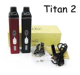 Wholesale Dry Herbs Vapor - Titan 2 Vaporizer kit Hebe Dry herb Vaporizer 2200mah With LED Display screen Huge Vapor E Cigarette kits
