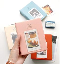 Wholesale Cartoon Photo Album - 64 Pockets Album Case Storage For Photo FujiFilm Instax Mini Film Size, 11cm*14.2cm*3.3cm, New CutePolaroid Mini-Album