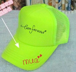 Wholesale advertisement printing - Retail Blank Fluorescent green hats canbe Customized Net caps LOGO printing advertisement hats snapback baseball cap Peaked hat