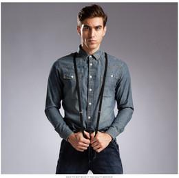 Wholesale Boys Double Collar Shirts - Wholesale-Vintage 100% Cotton Men Short Jeans Shirt Double PocketBlue European Fashion Boy Denim Shirt Summer Quality Men Clothes Soft #D