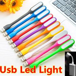 xiaomi usb led lamp Promotion USB LED Lampe LED Lumière Portable Flexible Xiaomi USB Lumière pour Ordinateur Portable Notebook Banque de Puissance Avec le paquet de Détail