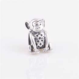 Wholesale Chamilia Bracelet Diy - 925 Sterling Silver Bead Lovely Monkey Charm Women DIY Jewelry Fits Chamilia Charms Bracelet Drop Shipping