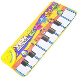 Teclado musical de juguete online-Juego Alfombra Walkie Talkies Regalos de Navidad Juguetes para niños Nuevos niños Toque Jugar Aprender Cantar Piano Teclado Música Alfombra Alfombra Manta Juguete para niños