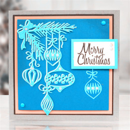 Wholesale Gift Albums - Christmas Latern Metal Cutting Dies for DIY Scrapbooking Photo Album Christmas Gift Decroration Embossing Folder Suit for big shot