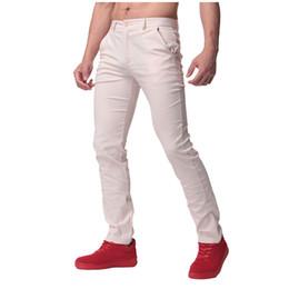 Wholesale Men S Work Pants - Wholesale- 2017 Mens 100% Cotton Casual pants Straight Cargo Pants chinos Men Slim Fit Autumn Spring Long Suit Pants Business Work Trousers