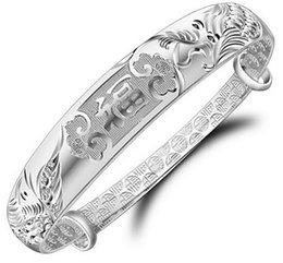 Wholesale Silver Ring Singapore - Popular silver bracelet Long Fengxiang f 999 silver bracelet adorn article Elegant fashion bracelet accessories wholesale