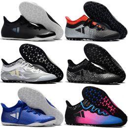 Tacos de fútbol gris online-2017 tacos de fútbol baratos Césped X Tango 17.3 IC TF zapatos de fútbol para hombre botas de fútbol auténticas interiores original as 17 Purecontrol Gris