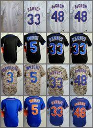 Wholesale Youth Baseball Jerseys - New York Youth Jersey David Wright Matt Harvey Jacob DeGrom Camo Blue White Pinstripe Kid