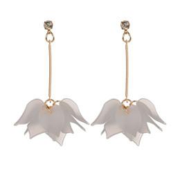 Wholesale Fshion Earring - MissCyCy Fshion 3 Colors Flowers Long Earrings For Women Drop Earrings Rhinestone Brand Jewelry 2017 New Arrival