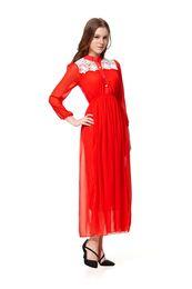 Wholesale Ethnic Clothing Muslim - 2015 Women lace Robes dress Muslim Casual Dress Dridesmaid Dresses Middle East dress Elegant Dress long Sleeve Islamic Ethnic Clothing S767L