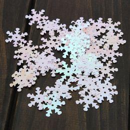 decorações chinesas do bolo de casamento Desconto 50 pçs / lote Lantejoulas Floco De Neve Confetti Natal Floco De Neve para Artesanato Congelado Visão de Cor