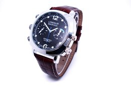 Wholesale Strap Water Proof - 1280*720 Water proof Leather Strap Wristwatch Hidden Spy Cam 8gb 16gb 32gb AV OUT Camera Watch