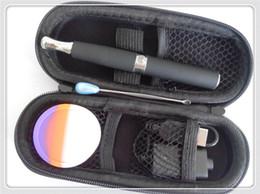 Wholesale Solid Vaporizer Pen - ego e cigarette skillet wax smoking e vapor kit skillet oil e solid wax vaporizer pen kit with zipper case wax jar wax dab tool starter kit