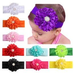 Wholesale Headband Hair Flowers Top Baby - Infant Baby Headwrap Hollowed Out Design Eyelet Flowers Hair Band Creative With Diamond Headbands Top Quality 2 94ml B