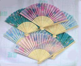 Wholesale Chinese Fan Wholesale - Novelty Items 20 pcs Chinese Silk folding Bamboo Hand Fan Fans Art Handmade Flower Popular Gift