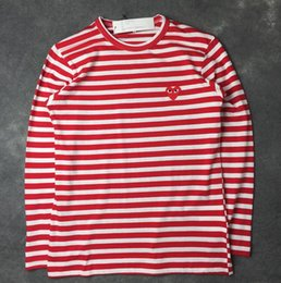 Wholesale Play T - 2017 men T Shirt Play Games Kawakubo Red Heart Men Lovers Printed T Shirt solid short sleeve plus