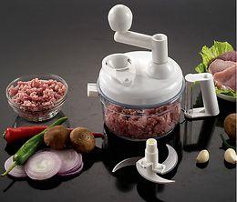 carne batidora vegetal Rebajas Envío gratis manual multifuncional procesador de alimentos conjunto trituradora de frutas hogar trituradora de carne picadora de carne picadora de verduras licuadora