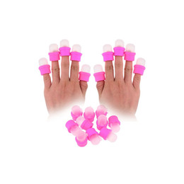 Wholesale Nail Polish Beauty Tips - Wholesale-2015 Wholesale pink 10 pcs Wearable Nail Soakers Polish Remover DIY Acrylic hand Beauty health Gel Cap Tip Set Free shipping