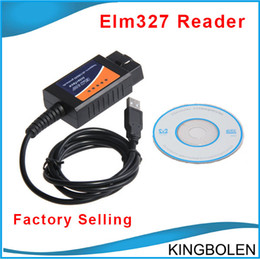 Wholesale Elm 327 Chevrolet - Hotsale ELM327 USB Interface Auto Diagnostic tool ELM 327 USB EOBD OBDII OBD II Diagnosis Interface Free Shipping