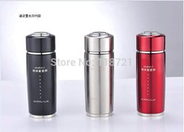 Wholesale Water Certificates - With CE RoHS certificate Vacuum Flasks Alkaline Water Cup Nano Energy Cup tourmaline health cup Water glass 1pcs Free shipping