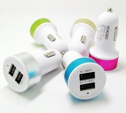 Wholesale Cars Green Matte - 2000pcs lot Dual USB Car Charger wholesale universal double usb car charger Adapter 2.1A 5v Matte Feel Shell for iPad iPhone Samsung galaxy