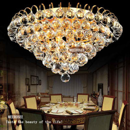 Diamond Design Crystal Ceiling Light Fixture Modern Lustre Crystal Light Fitting Home Deco Cristal Lamp With Gold Silver Color