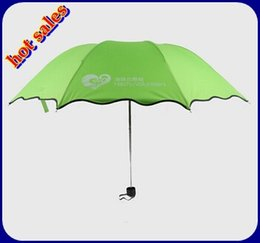 Wholesale Minimum Order Pc - Wholesale-can make logo or any Ads words on umbrella non-automatic advertising three-folding umbrella MINIMUM ORDER 500 pcs parapluie